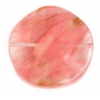 Semi-Precious Round Wavy 30mm Cherry Quartz Natural